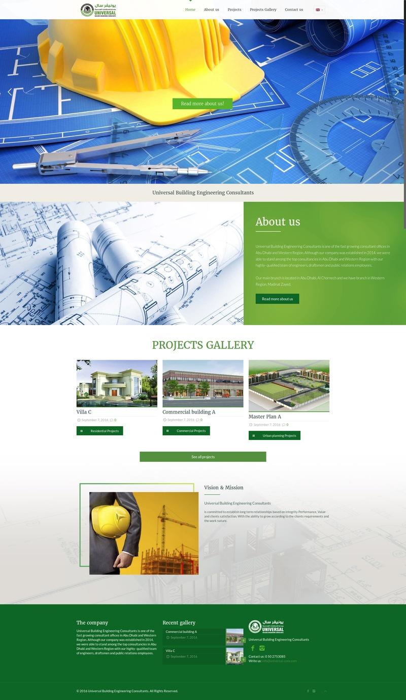 waleed-sayed Website Design & Development  - Universal Construction