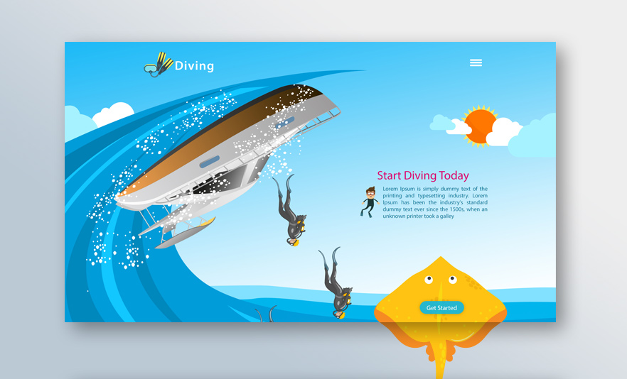 Diving-website-design-waleed-sayed
