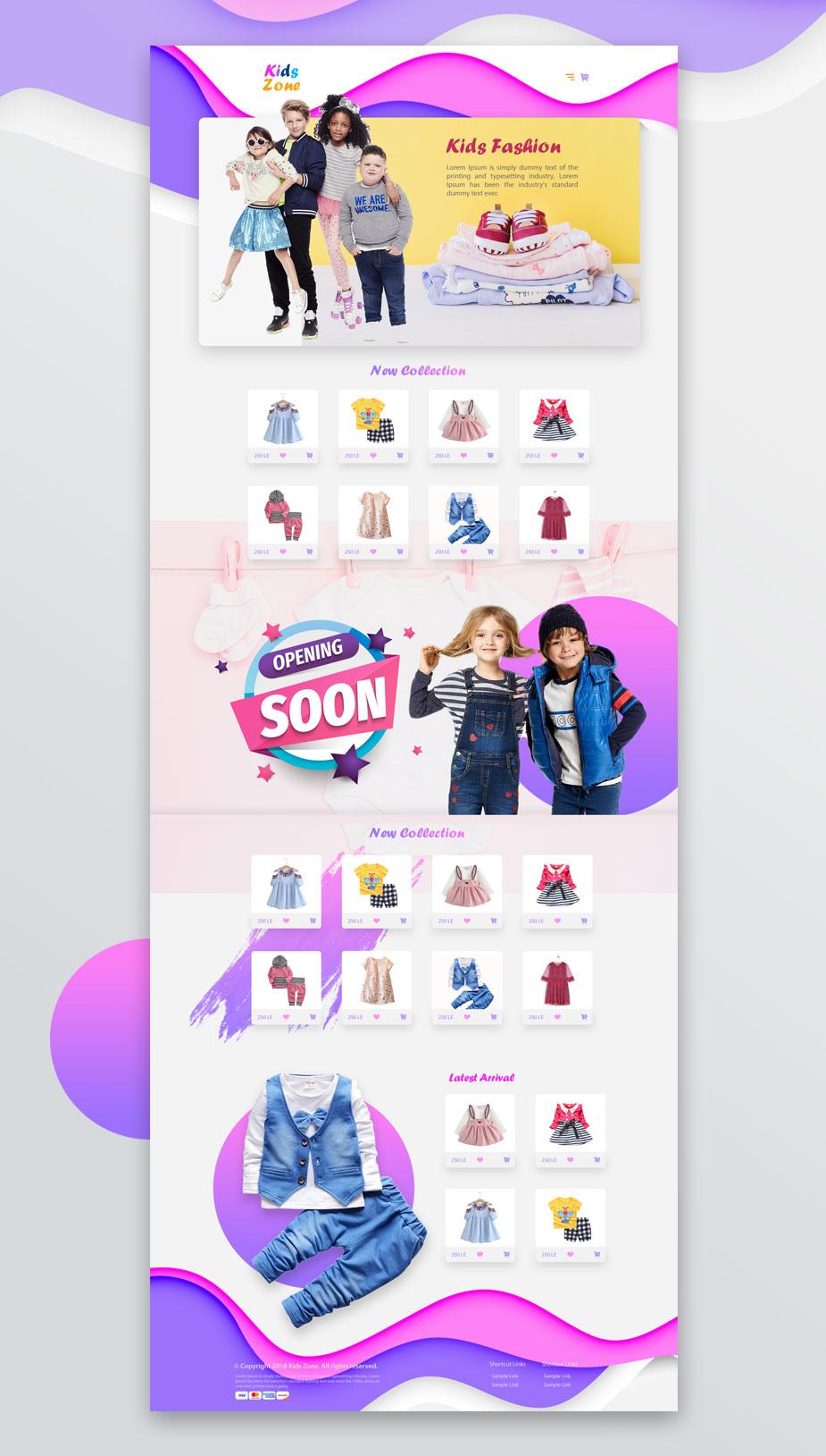 kids-fashion-website-design-waleed-sayed